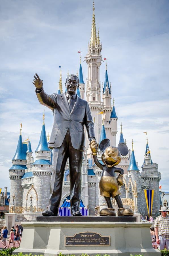 Walt Disney en Mickey Mouse royalty-vrije stock foto's