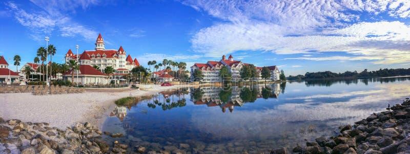 Walt Disney et x27 ; station de vacances grande et station thermale de s la Floride photographie stock libre de droits