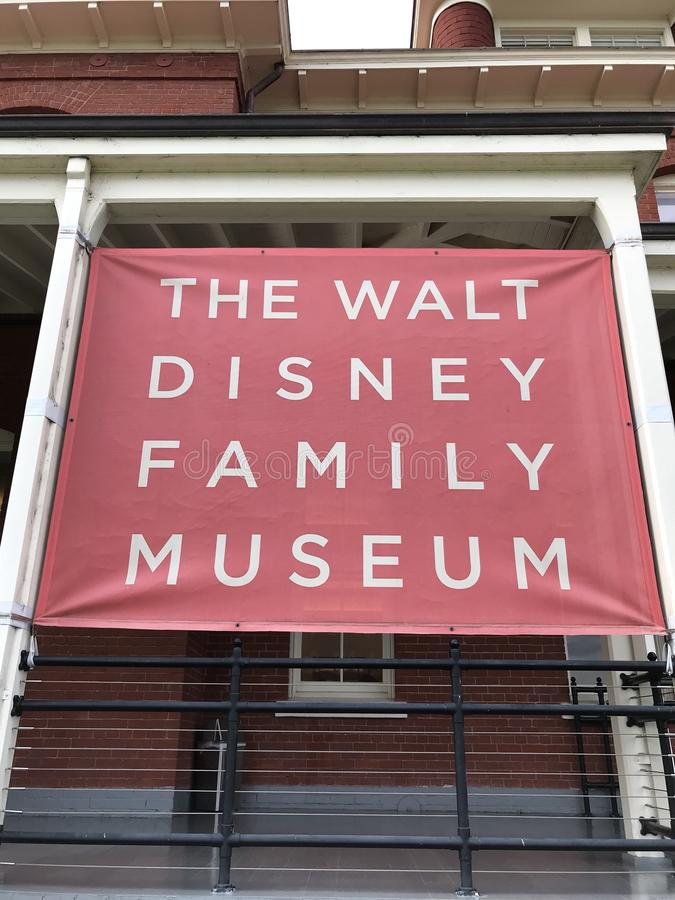 Walt Disney familjmuseum royaltyfria bilder