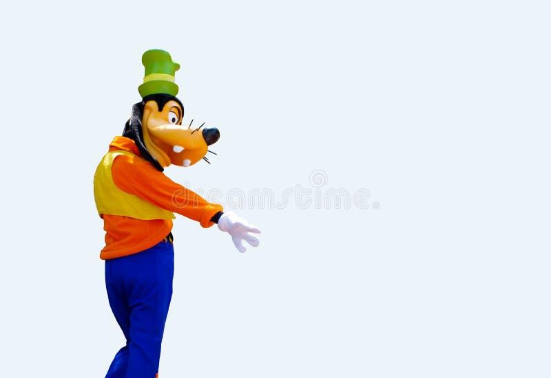 Walt Disney Goofy Character Isolated en el fondo blanco fotografía de archivo