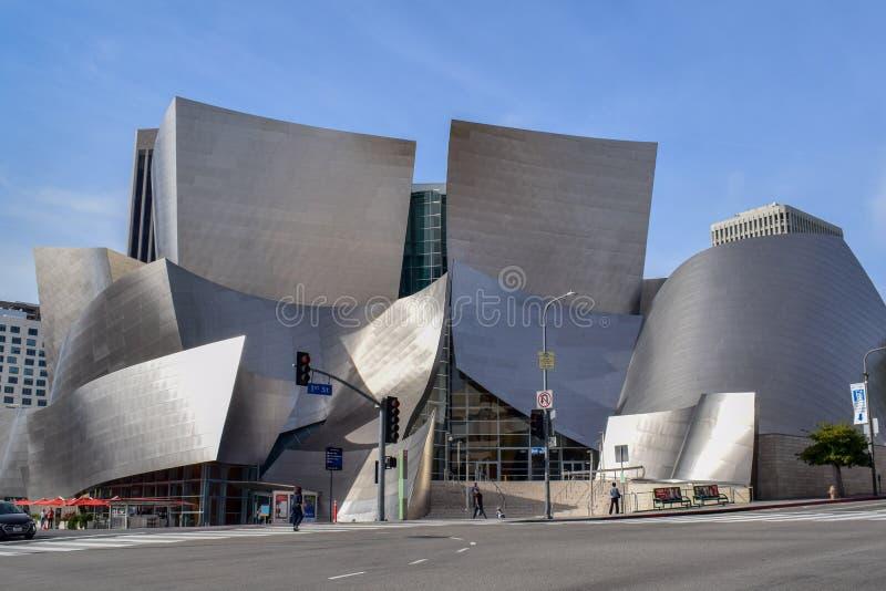 Walt Disney konserthall i i stadens centrum Los Angeles royaltyfri fotografi