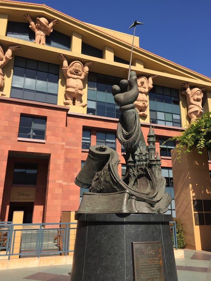Walt Disney legender som bygger burbank Los Angeles royaltyfri foto