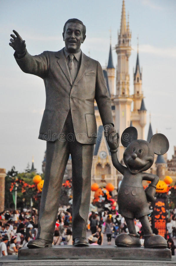 Walt Disney och Mickey Mouse royaltyfri fotografi