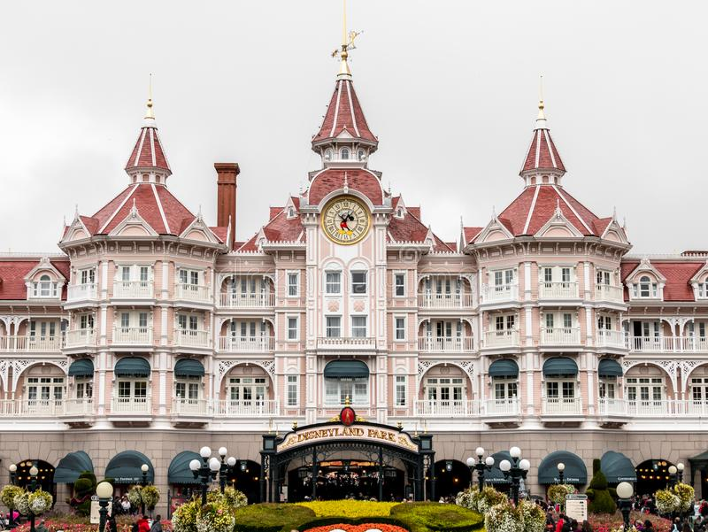 Walt Disney park entrance royalty free stock photography