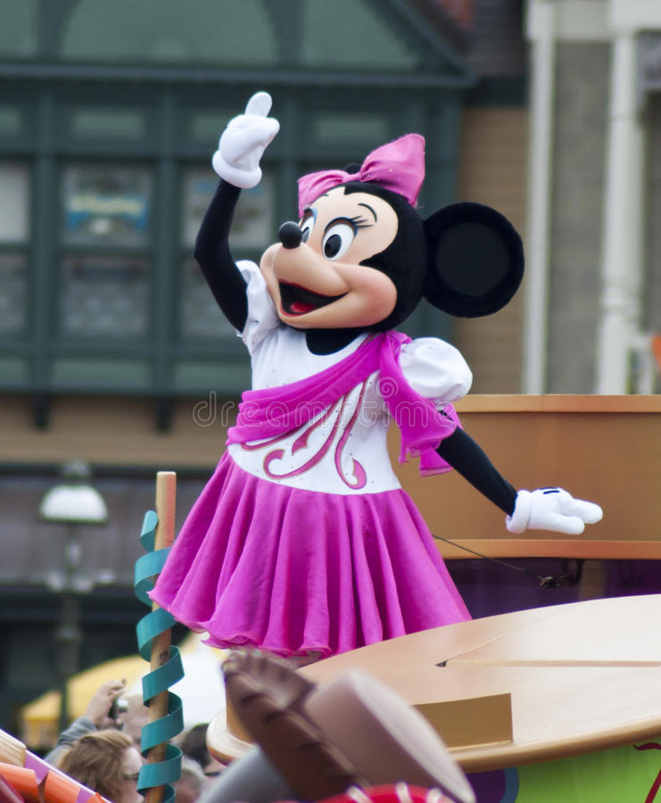 Walt Disney's Minnie Mouse. Minnie Mouse on stage at Disney World in Orlando Florida. Photo taken on: Oct 29, 2011 royalty free stock photos