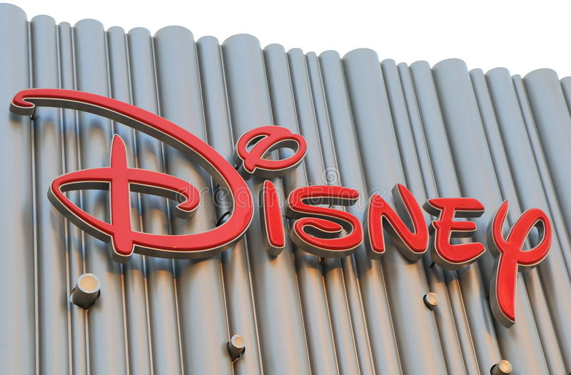 Walt Disney. Sign in Shanghai China royalty free stock image