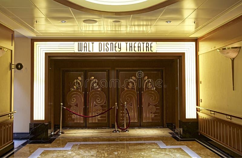 Walt Disney Theatre in the Disney Cruise stock photography