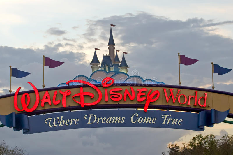 Walt Disney World. The main entrance to Walt Disney World Orlando Florida royalty free stock photos