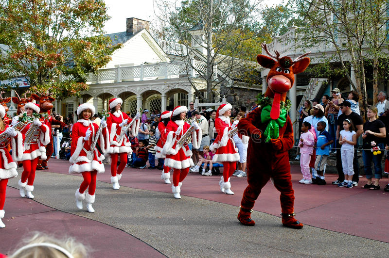 Walt Disney World Christmas Parade image stock