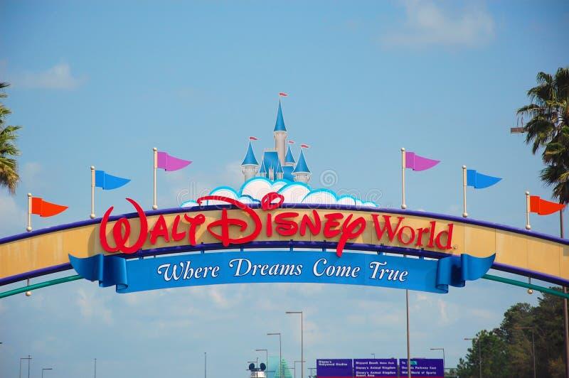 Walt Disney World Entrance. The main entrance of the Walt Disney World, Florida, Orlando stock image