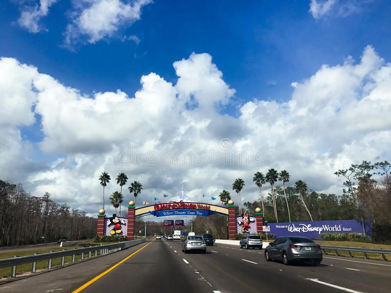 Walt Disney World entrant à Orlando, la Floride photos stock