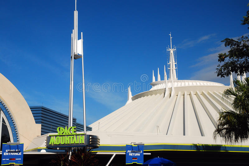Walt Disney World Space Mountain image stock