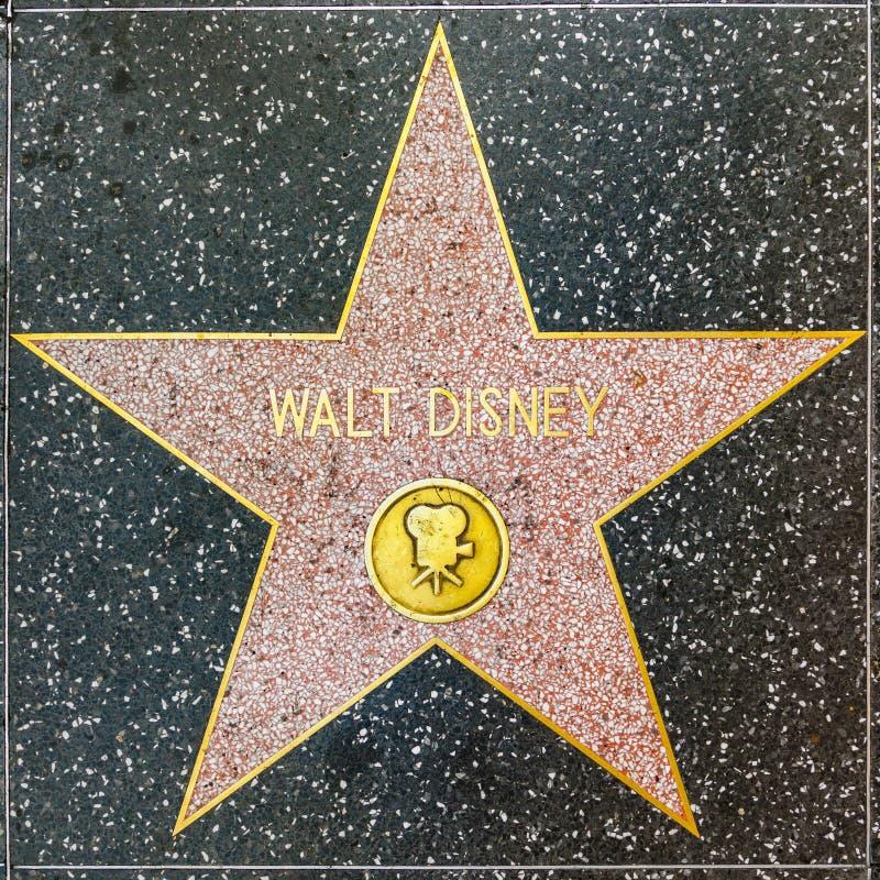 Walt Disneys gwiazda na Hollywood spacerze sława zdjęcie stock