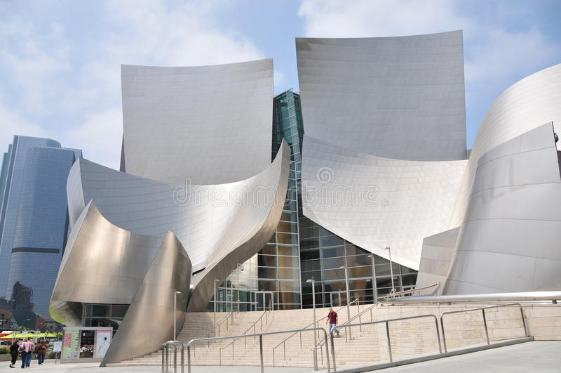 walt för los för angeles konsertdisney korridor arkivfoton