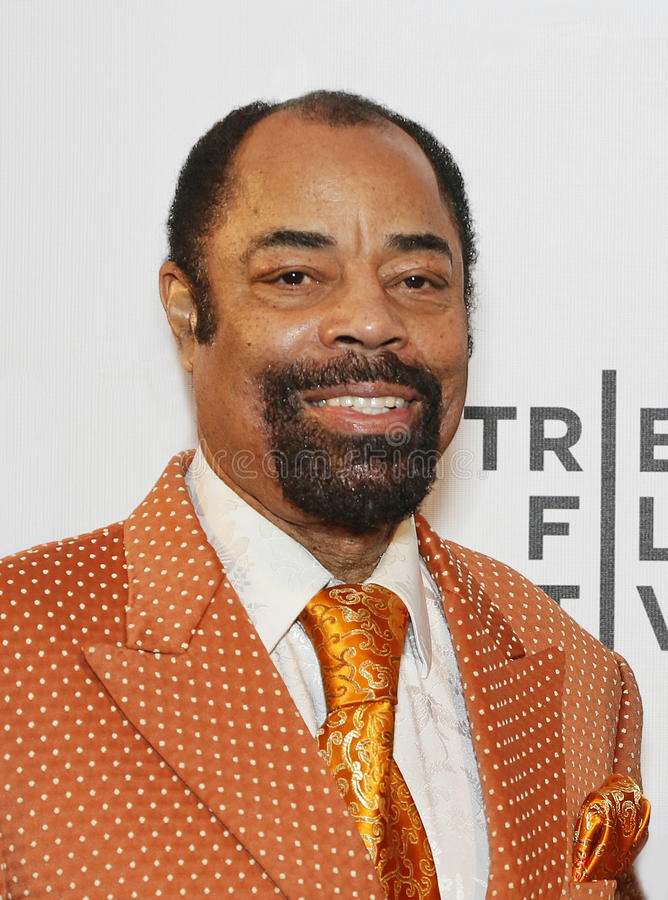 """Walt Frazier. Dapper former NBA great Walt Clyde Frazier arrives on the red carpet for the world premiere of ESPN Films' """"When The Garden Was Eden royalty free stock images"""