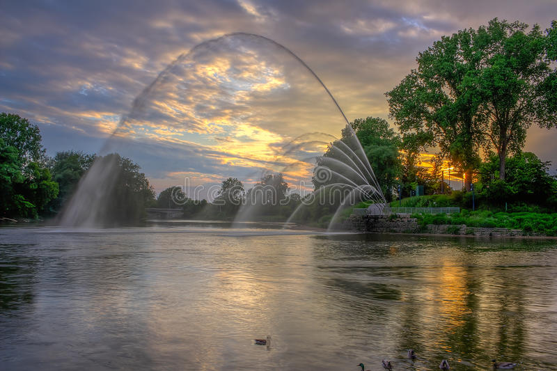 Walter J Blackburn pomnika fontanna fotografia royalty free