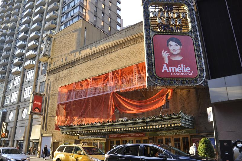 New York City, 3rd July: Walter Kerr Theatre in Midtown Manhattan from New York City in United States stock photos