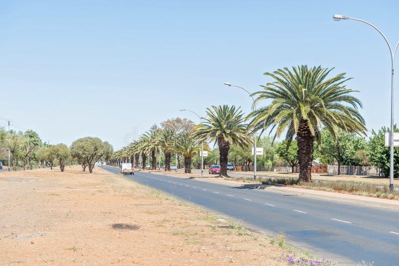 Walter Sisulu Road em Bloemfontein fotografia de stock