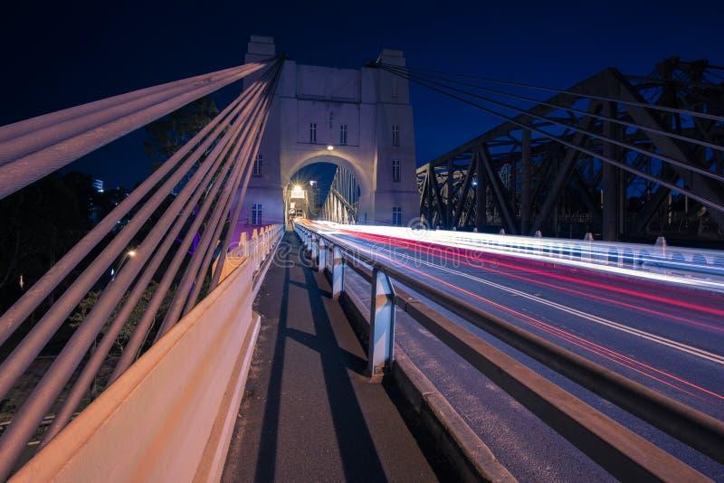 Walter Taylor Bridge in Brisbane lizenzfreies stockbild