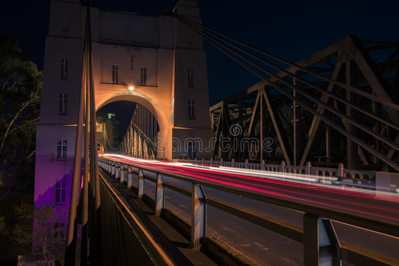 Walter Taylor Bridge in Brisbane stockfoto