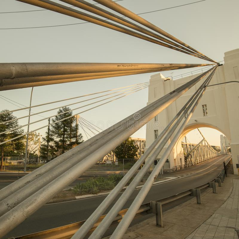 Walter Taylor Bridge in Brisbane stockbilder