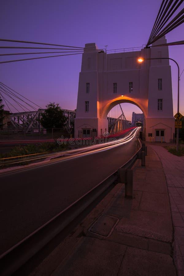 Walter Taylor Bridge in Brisbane stockfotografie