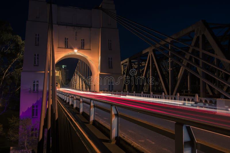 Walter Taylor Bridge i Brisbane arkivfoto