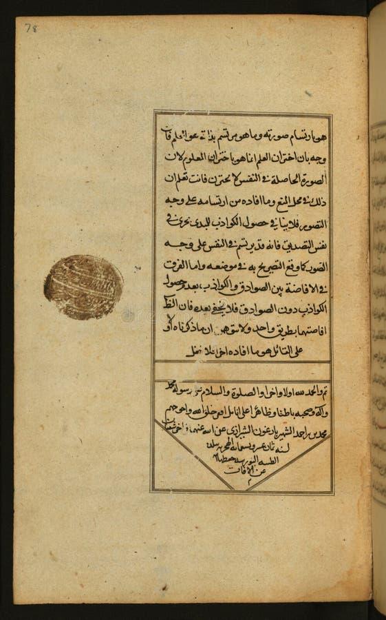 Βιβλίο χειρογράφων στη λογική, κα Μουσείων Τέχνης Walters W 591, fol 78a στοκ εικόνες με δικαίωμα ελεύθερης χρήσης