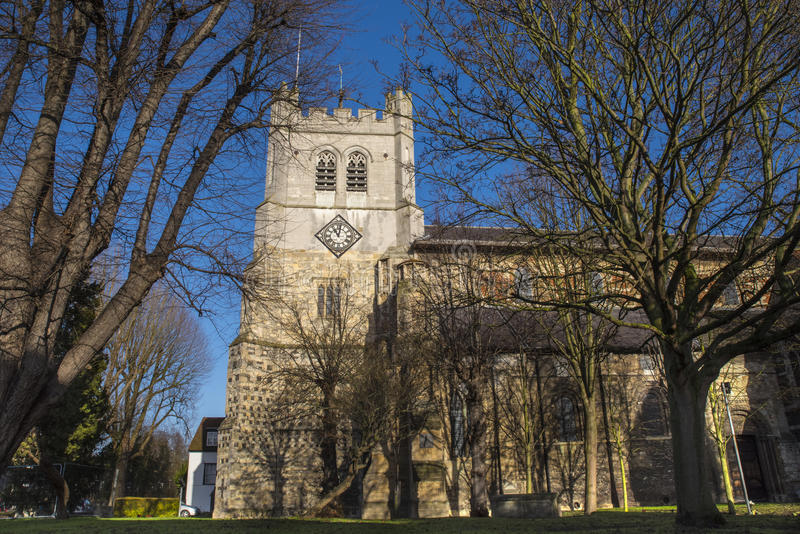 Waltham Abbey Church royalty-vrije stock fotografie