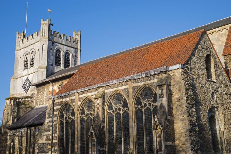 Waltham Abbey Church royalty-vrije stock foto's