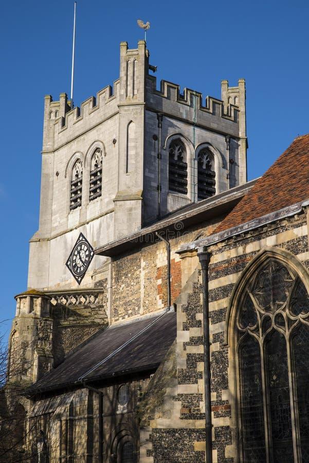 Waltham Abbey Church stock afbeelding