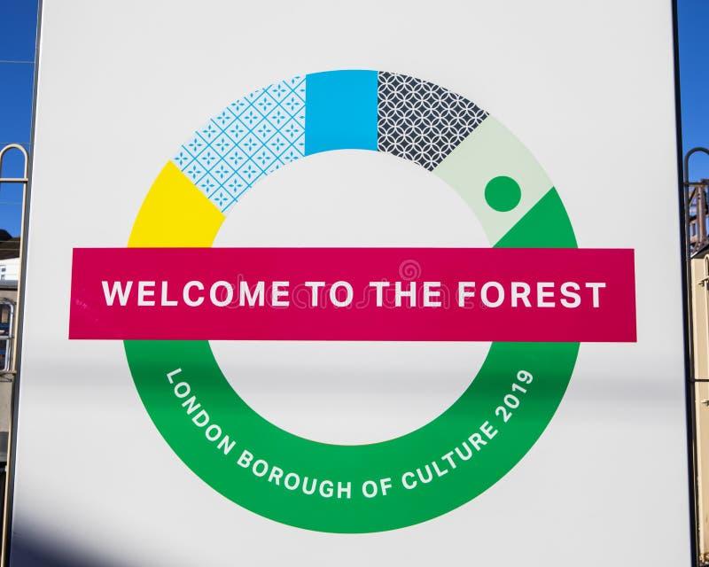 Waltham Forest London Borough de culture images libres de droits