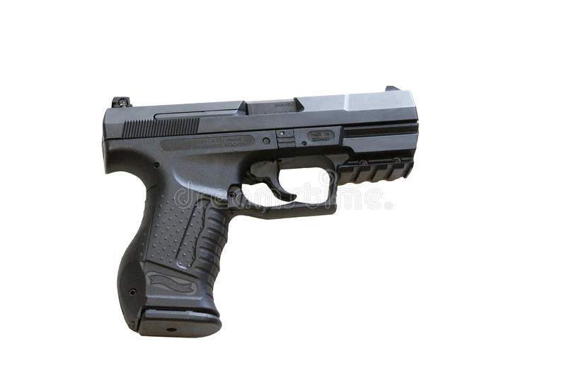 Walther P99 is een halfautomatisch pistool stock foto's