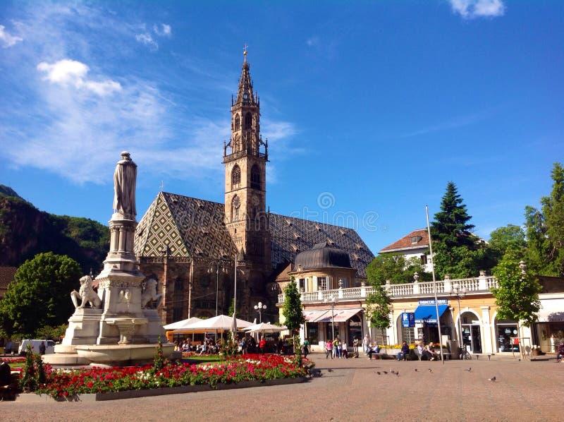 Walther Square in Bozen lizenzfreies stockbild
