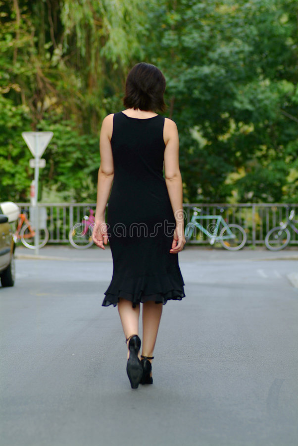 Waltking woman stock photography