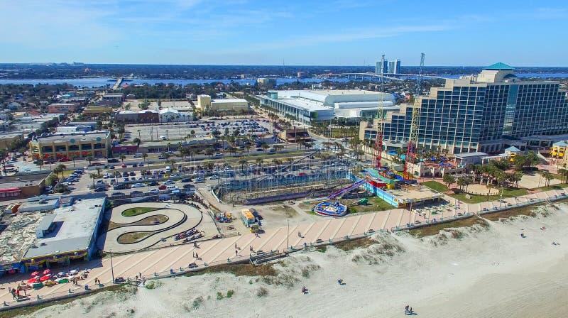 WALTON DO FORTE, FL - EM FEVEREIRO DE 2016: Opinião aérea da cidade Forte Walton mim imagens de stock