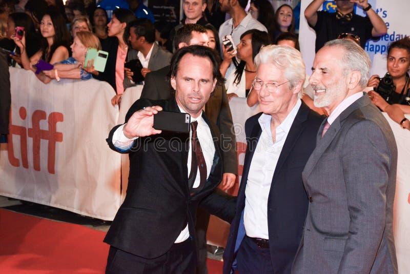 Walton Goggins, Richard Gerencia e Jon Avnet na premier do ` de Christs do ` três em TIFF17 fotos de stock royalty free