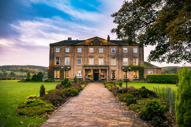 Walton Hall in a scenic setting of rolling parkland with its own stock photos