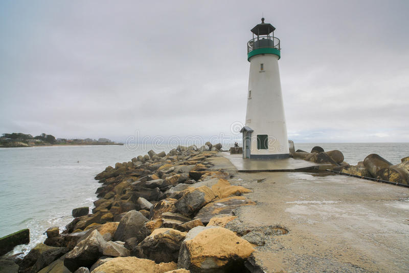Walton Lighthouse, Santa Cruz, Califórnia imagem de stock royalty free