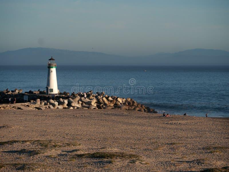Walton Lighthouse in Santa Cruz California stock foto's