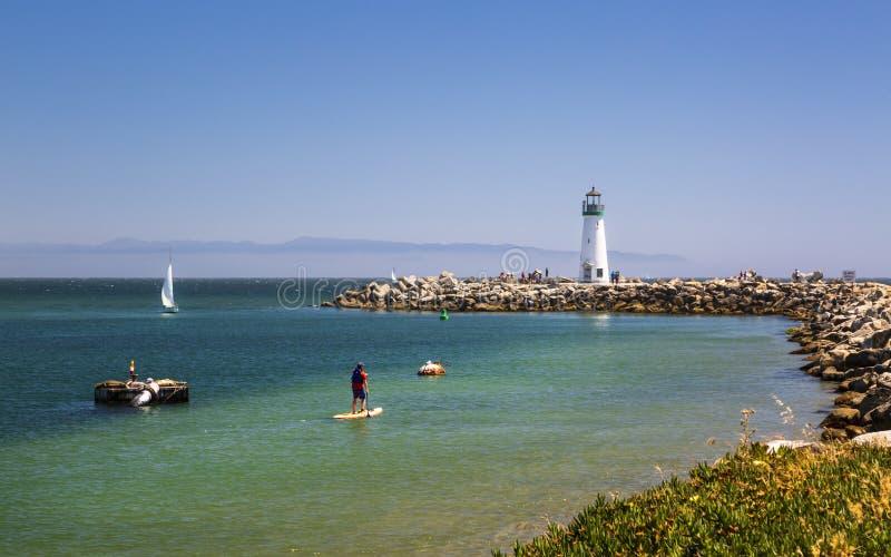 Walton Lighthouse, Santa Cruz, California, Stati Uniti d'America, Nord America fotografia stock libera da diritti