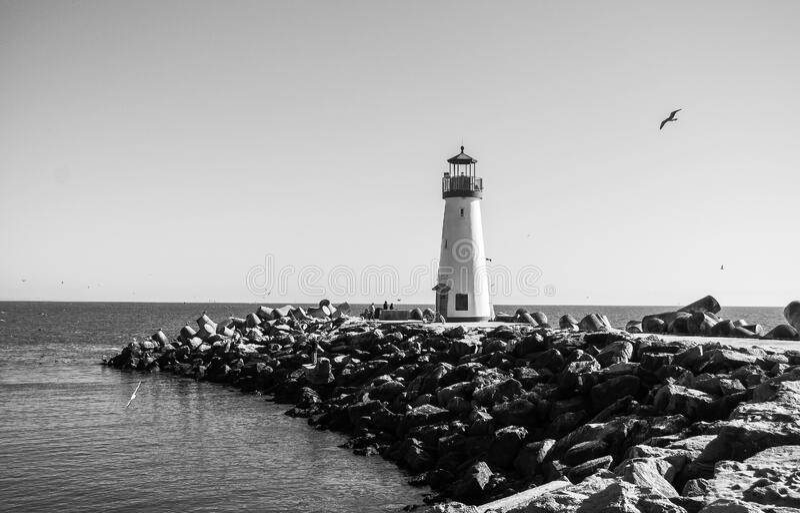 Walton Lighthouse at Santa Cruz stock image