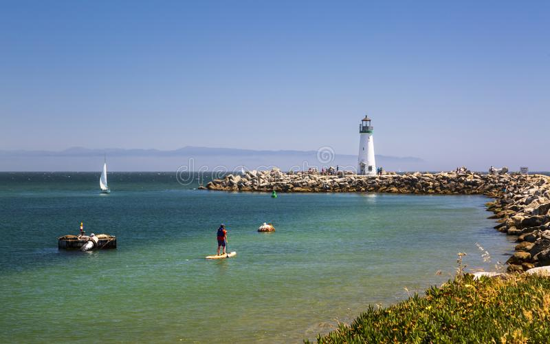 Walton Lighthouse, Santa Cruz, la Californie, Etats-Unis d'Amérique, Amérique du Nord photographie stock libre de droits