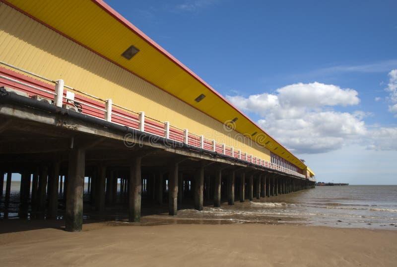 Walton Pier, Walton-auf-d-Naze, Essex, England lizenzfreie stockfotos