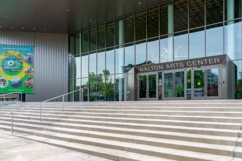 Walton sztuk centrum przy uniwersytetem Arkansas zdjęcie stock