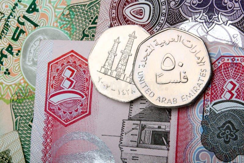 walut dirhams uae zdjęcia stock