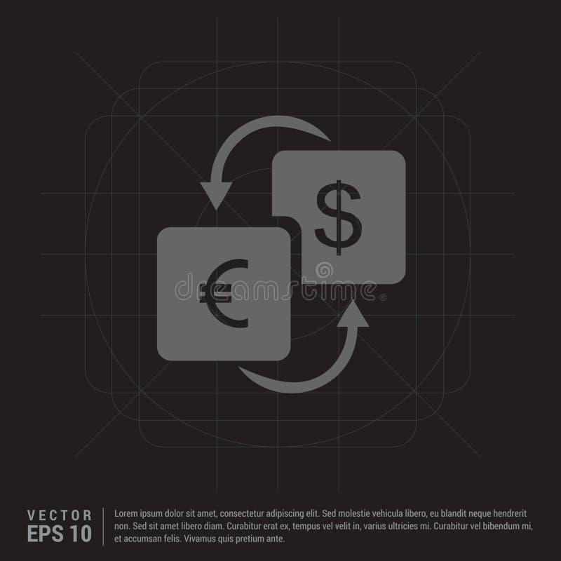 waluta konwerteru ikona ilustracja wektor
