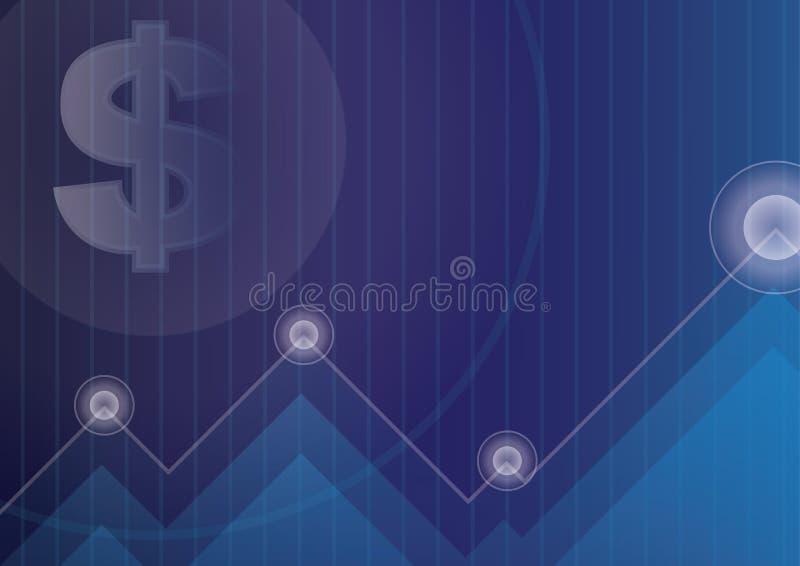 Waluta symbol na błękicie dla pieniężnego biznesowego tła fotografia stock