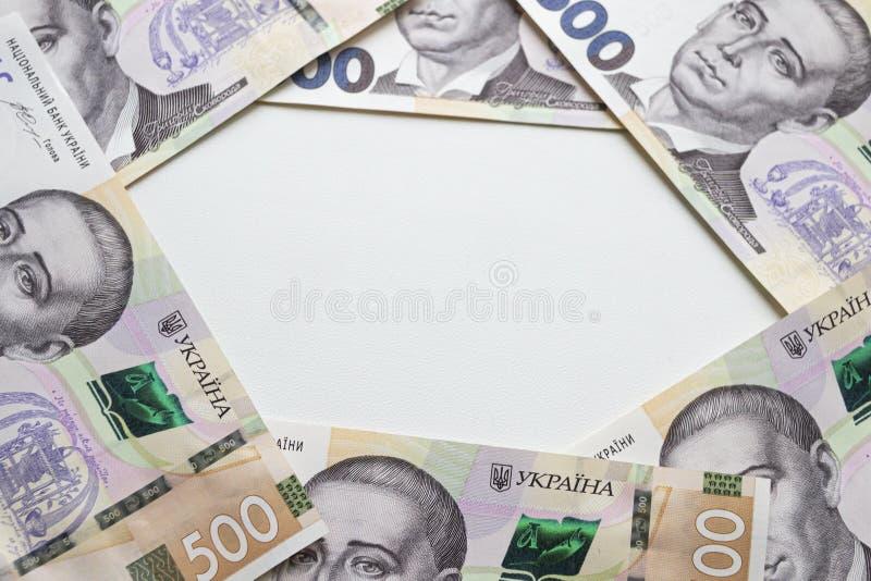 Waluta ukraińska Nowe banknoty na Ukrainie fotografia royalty free