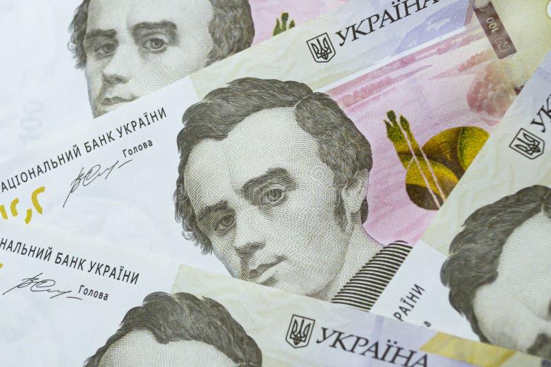 Waluta ukraińska Nowe banknoty na Ukrainie obraz stock